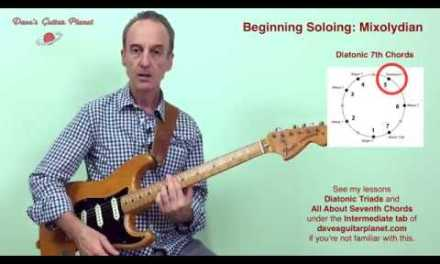 Beginning Blues/Rock Guitar Soloing – Hum And Play (Mixolydian/Dominant)
