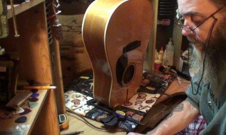 Echowebb guitar brace repair and checking bridge installation