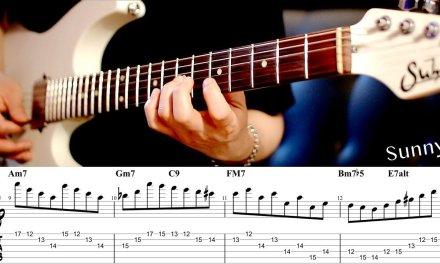 SUNNY – SCALE SOLO LICK LINE (A Part) | GUITAR LESSON TV