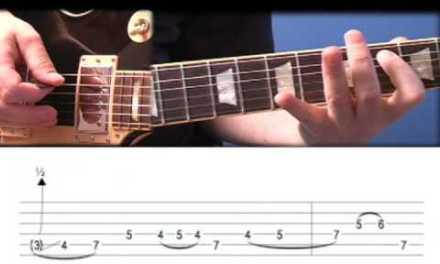 Lead Guitar Etude # 1 (Blues Rock Lead in A)