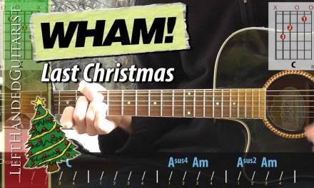 Wham! –  Last Christmas   acoustic guitar lesson