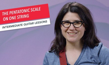 How to Play Guitar: Pentatonic Scale on One String | Intermediate | Guitar Lessons