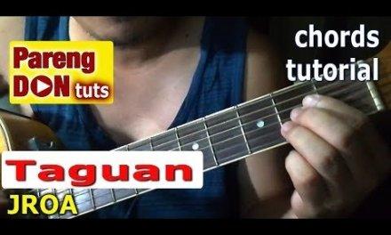 TAGUAN chords (JROA) guitar tutorial with alternative chords