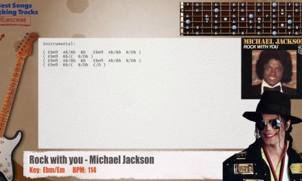 Rock with you – Michael Jackson Guitar Backing Track with chords and lyrics