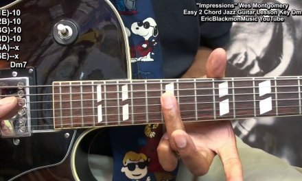 How To Play Impressions Wes Montgomery Jazz With 2 Easy Chords On Guitar EricBlackmonGuitar HQ