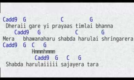 Hawaijahaj Sajjan Raj Vaidhya Lyrics & Chords Guitar Tutorial