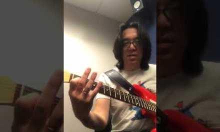 Tomo Fujita gives Triad Guitar Lesson / Instagram Live 8-14-2018