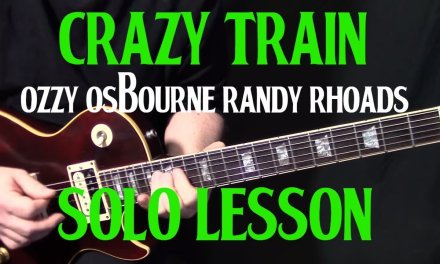 """how to play """"Crazy Train"""" by Ozzy Ozbourne Randy Rhoads – guitar solo lesson"""