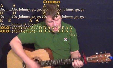 Johnny B. Goode (Chuck Berry) Guitar Cover Lesson with Chords/Lyrics – A7 D7 E7