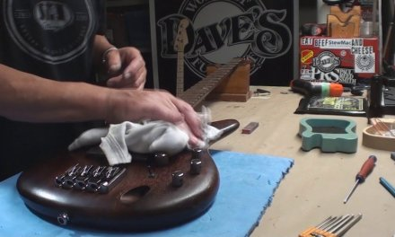 Ibanez Bass Guitar Gets Some Needed Repairs