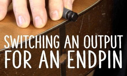How to revert an output jack to an endpin on an acoustic guitar