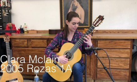 Clara Mclain Plays Merlin's Evocation & Joropo on a 2005 Rozas 1A