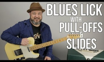 Tasty Blues Lick Using Pull-Offs and Slides – Minor Pentatonic Scale