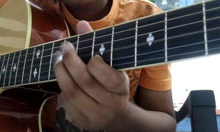 Ek hasina thi/karz theme guitar lesson tabs
