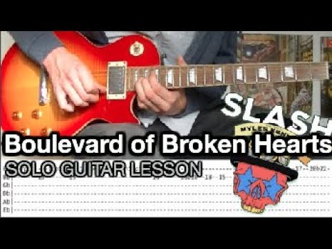 Slash ft. Myles Kennedy – Boulevard Of Broken Hearts SOLO Guitar Lesson (With Tabs)
