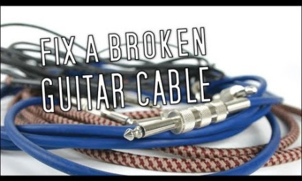 How To Fix A Broken Guitar Cable