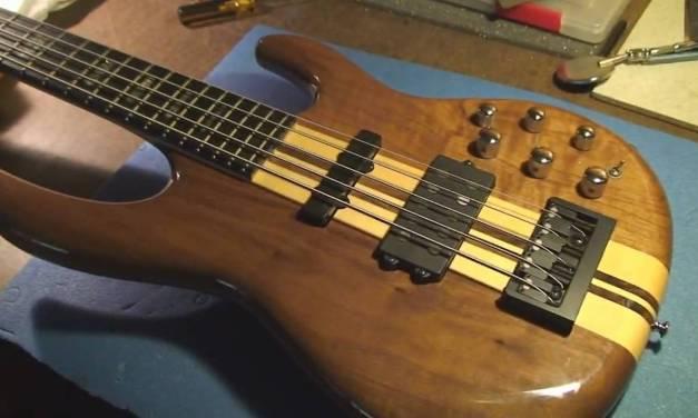Carvin LBX-75 Bass Guitar Repair with Joke !!!