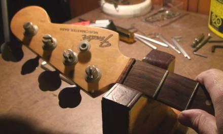Fender Musicmaster Bass Guitar Neck Repair