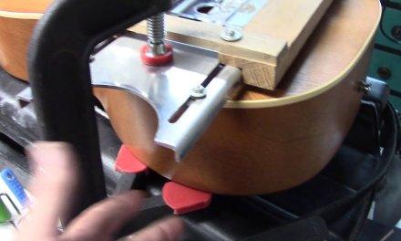 Re-Slotting Acoustic Guitar Bridge