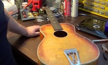 1960's Silvertone 605 Acoustic Guitar Repair and Demo