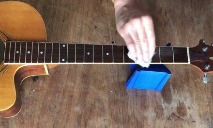 Guitar Repair -Restoring The Fingerboard Of A Chinese Guitar