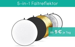 Videodreh Equipment Reflektor