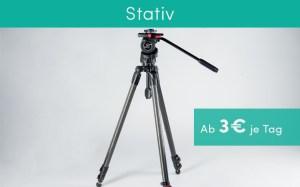 Stativ Ausrüstung für Produktvideos