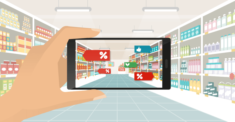 Finding retail items and accessing product information using augmented reality