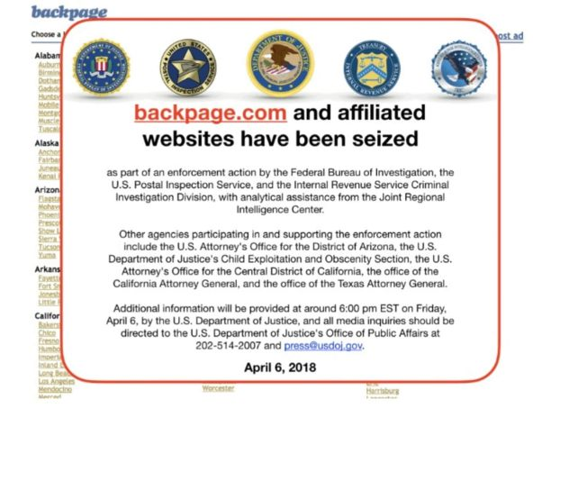 Feds seize Backpage: A Triumph for Freedom
