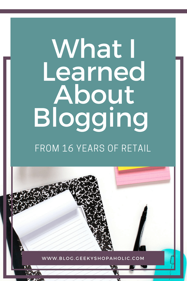 What I learned about blogging from 16 Years of Retail
