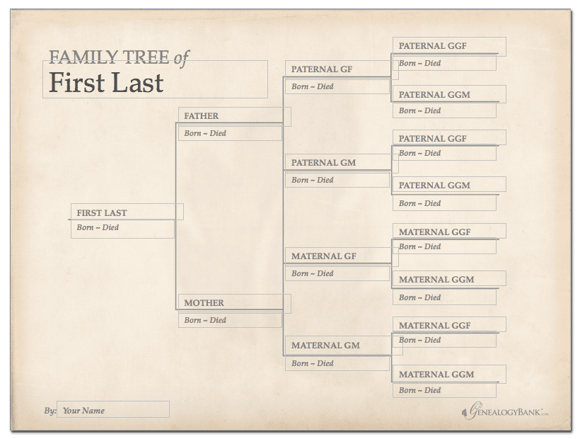free genealogy forms charts templates