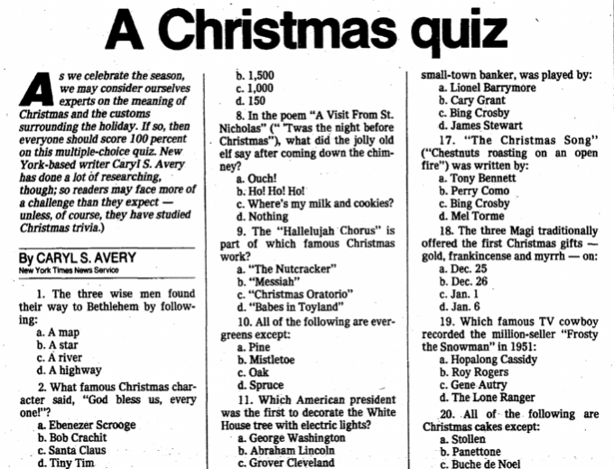 Christmas Carol Trivia.Christmas Carol Trivia Questions Answers Libridacqua