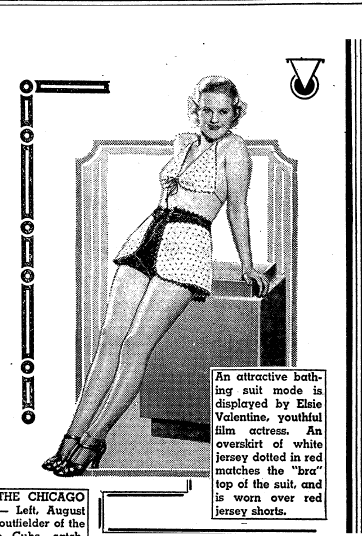 Great-Grandmother's Swimsuit in Vintage Fashion Articles