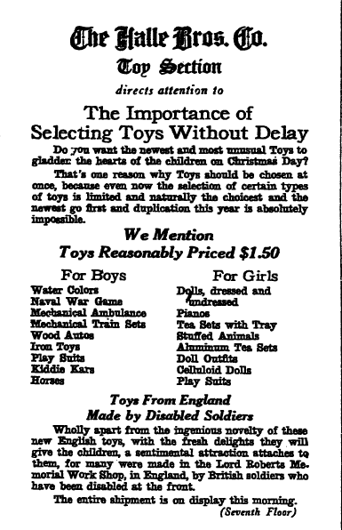 Christmas Toys & Gifts from Yesteryear in Old Newspaper Ads