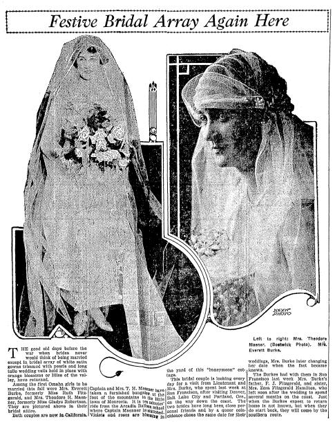 wedding announcements, Omaha World-Herald newspaper article 2 February 1919