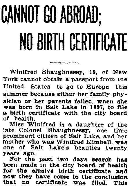 Genealogy 101: #9 Birth Certificate Alternatives