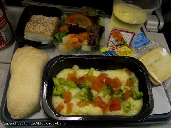 171126 ダラスへ向かう飛行機の機内食、夕食