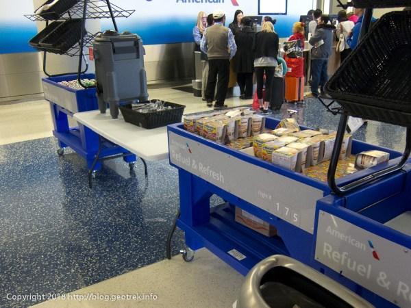 171127 ダラス空港、出発遅延のための食事
