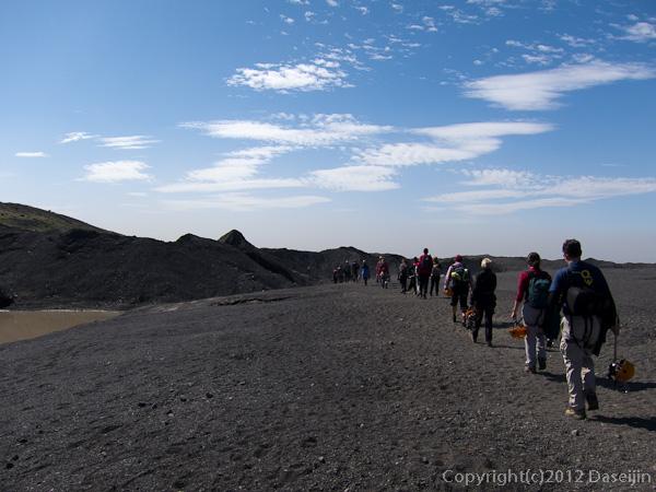 120807アイスランド、グリーンランドの旅・氷河トレック終了