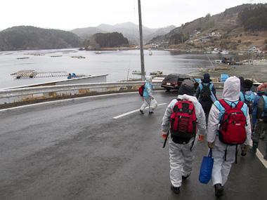120121神奈川災害ボランティア・作業場所へ