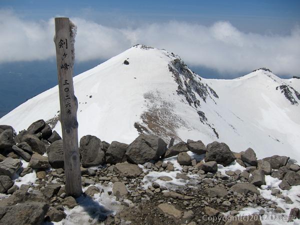 120519乗鞍岳・剣ヶ峰山頂