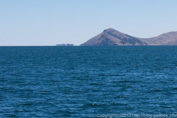 130907ボリビア、ティティカカ湖の蜃気楼