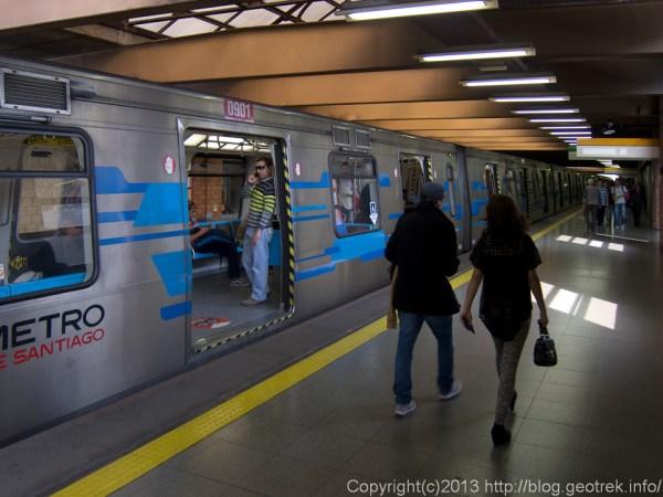 130910チリ、サンティアゴの地下鉄