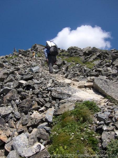 20130811北岳への登り