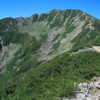 130811小仙丈岳から仙丈岳