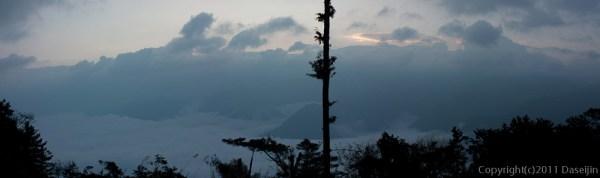 120311阿里山・日の出がせまる祝山
