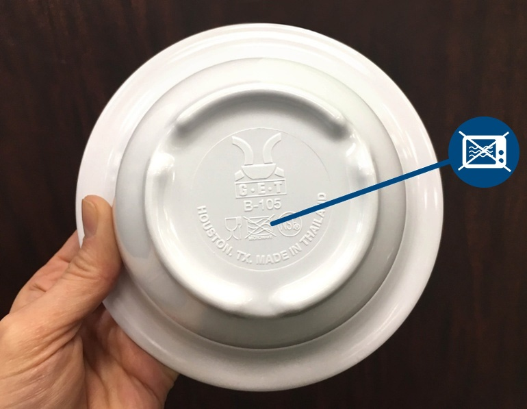 is melamine dinnerware microwave safe