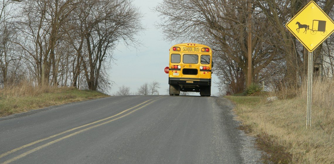 School Bus in Rural Area