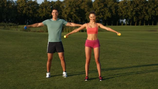 Couple training together and staying together