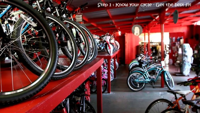 cycling tips for beginners - cycle shop
